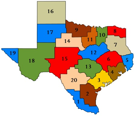 Click Region of Texas to find a HSEP