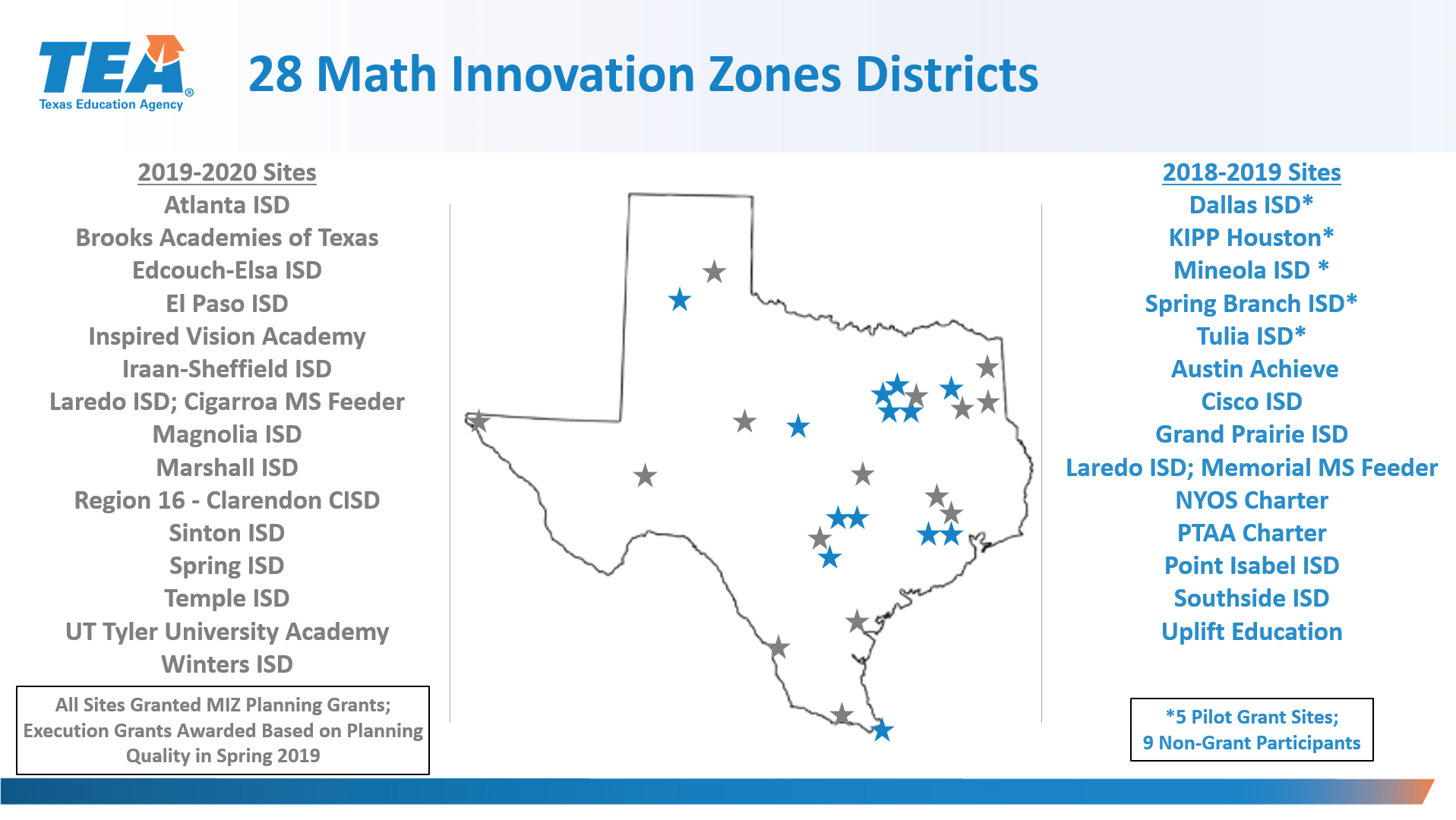 Math Innovation Zones | Texas Education Agency